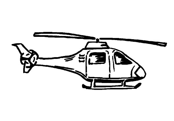 Helicopter, : Helicopter Coloring Pages