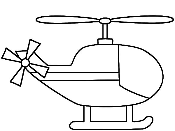 Helicopter, : Helicopter Outline Coloring Pages