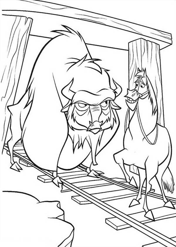 Home On The Prairie, : Home on the Prairie Bison Meet a Horse Coloring Pages
