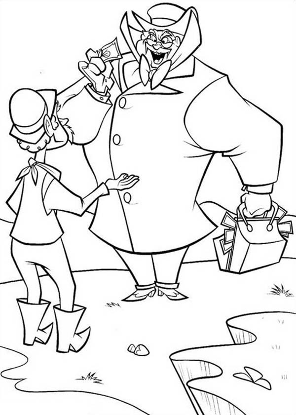 Home On The Prairie, : Home on the Prairie Cowboy Bribe a Farmer Coloring Pages