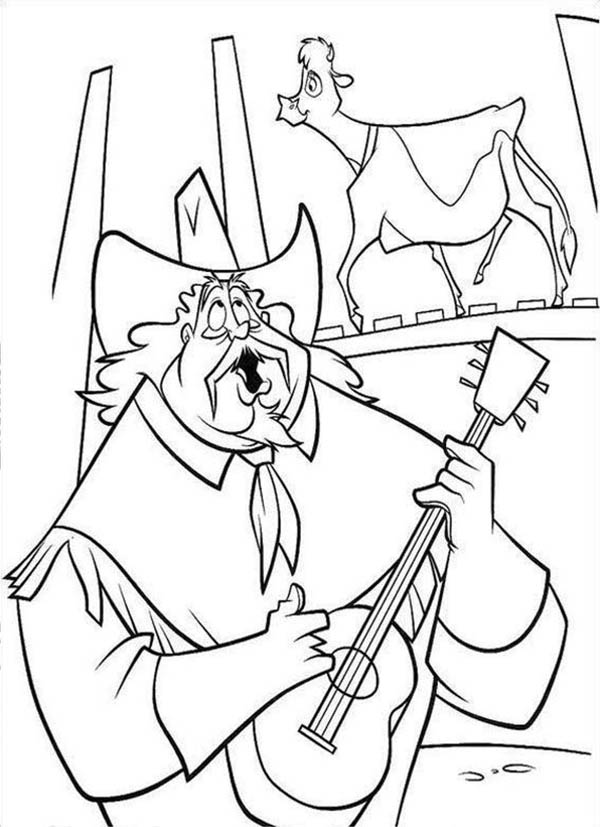 Home On The Prairie, : Home on the Prairie Old Cowboy Singing Coloring Pages