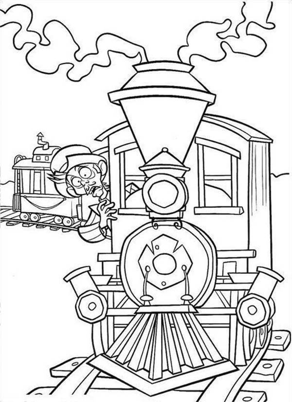 Home On The Prairie, : Home on the Prairie Train is oing to Crash Coloring Pages