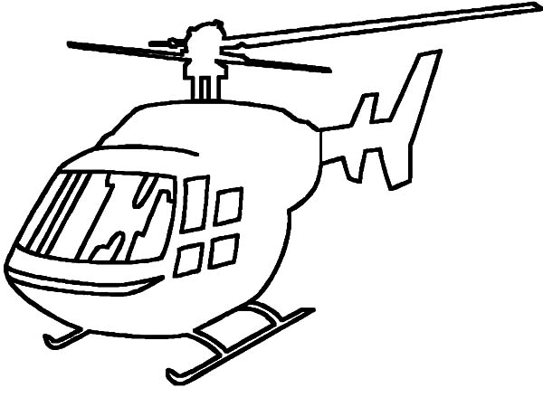 Helicopter, : How to Draw Helicopter Coloring Pages