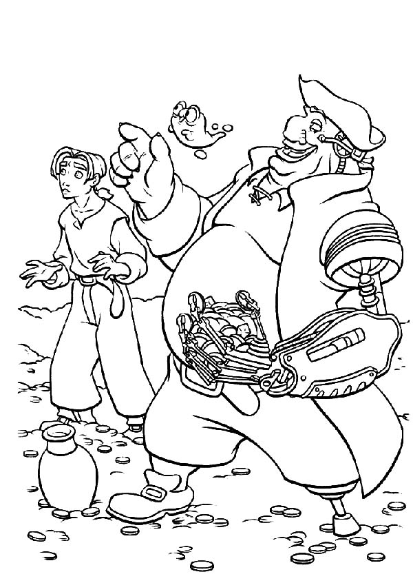 Treasure Planet, : How to Draw Treasure Planet Coloring Pages