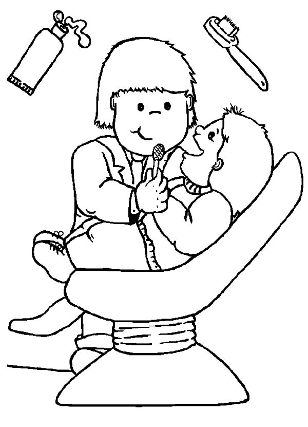 Health, : Importance of Dental Health Coloring Pages