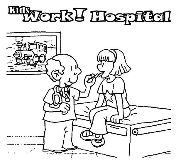 Health, : Kid and Doctor Health Coloring Pages