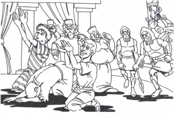 King Nebuchadnezzar, : King Nebuchadnezzar Daniel Friends Worship God Coloring Pages