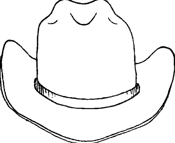 Hat, : Leather Cowboy Hat Coloring Pages