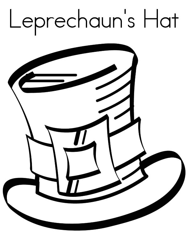 Hat, : Leprechauns Hat Coloring Pages