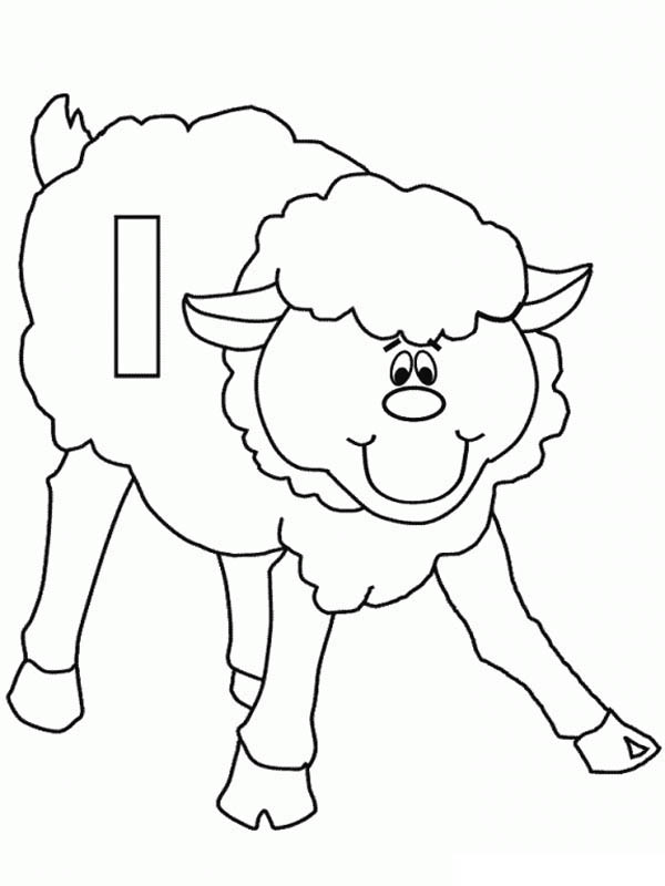 Letter l, : Lower Case Letter L for Lamb Coloring Page