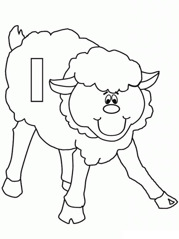 Letter l, : Lower Case Letter L for Lamb Coloring Page