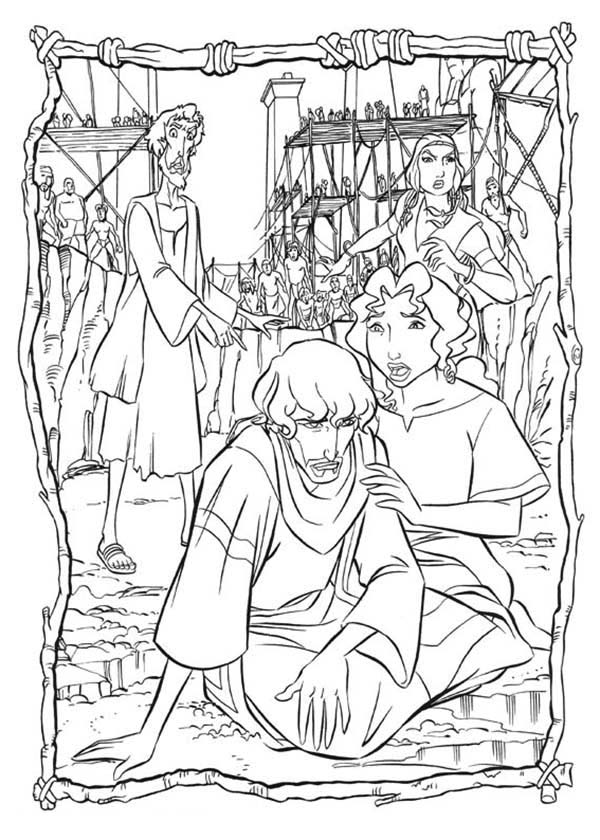 Prince Of Egypt, : Miriam Helped The Prince of Egypt Coloring Pages