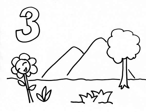 Days Creation, : Mountains and Plants in Days of Creation Coloring Pages