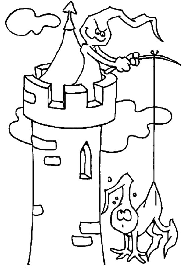 Haunted House, : Phantoms in the Haunted Castle and Haunted House Coloring Pages