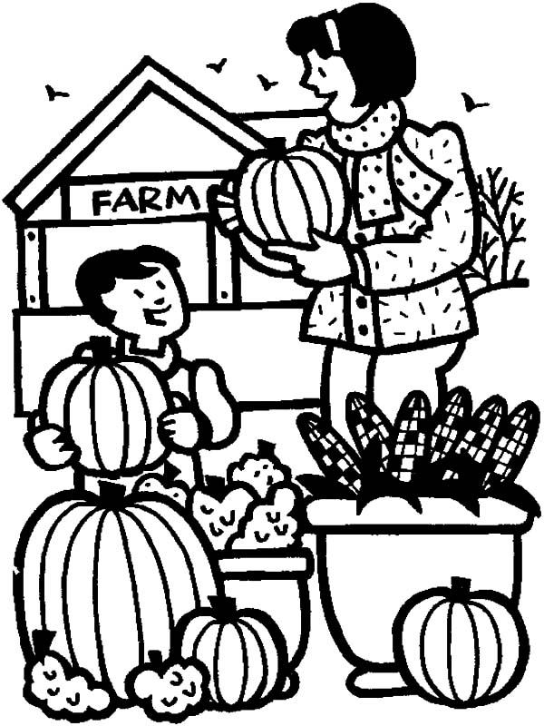 Harvests, : Picking Fruits from Harvests with Mom Coloring Pages