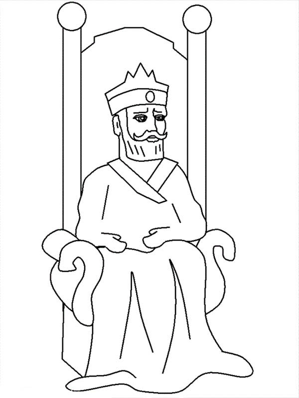 King Nebuchadnezzar, : Picture of King Nebuchadnezzar Coloring Page