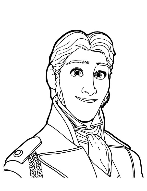 Hans, : Portrait of Prince Hans Coloring Pages