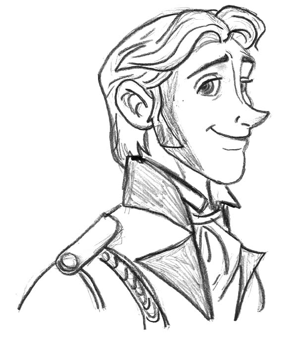 Hans, : Prince Hans Sketch Coloring Pages