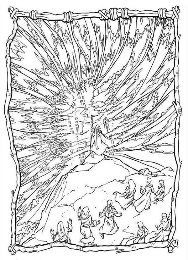 Prince Of Egypt, : Prince of Egypt Crossing the Red Sea Coloring Pages