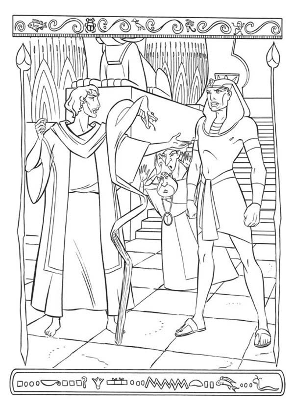 Prince Of Egypt, : Prince of Egypt Facing Pharaoh Magician Coloring Pages