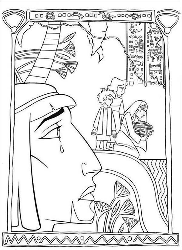 Prince Of Egypt, : Prince of Egypt is Crying Coloring Pages