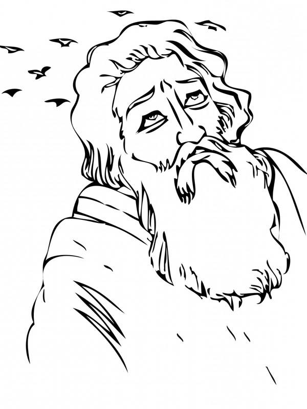 Elijah, : Prophet Elijah Coloring Pages