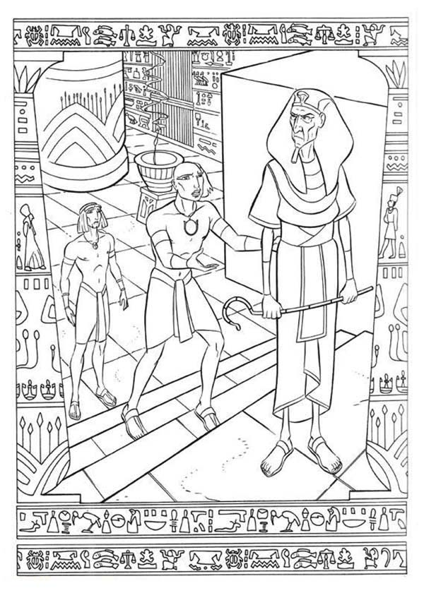 Prince Of Egypt, : Ramses Defending The Prince of Egypt from Pharaoh Anger Coloring Pages