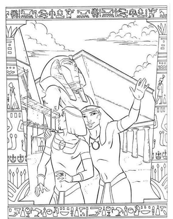 Prince Of Egypt, : Ramses Take The Prince of Egypt to City Tour Coloring Pages