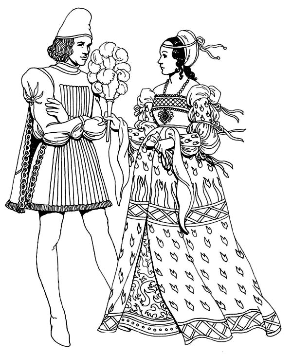 Renaissance, : Renaissance Coloring Pages