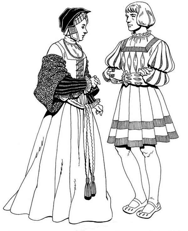 Renaissance, : Renaissance People Coloring Pages