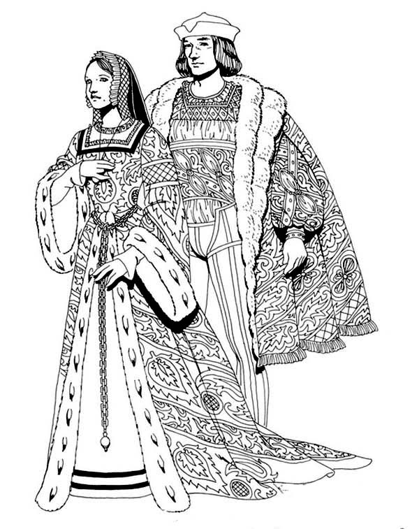 Renaissance Royal Family Coloring Pages : Coloring Sun