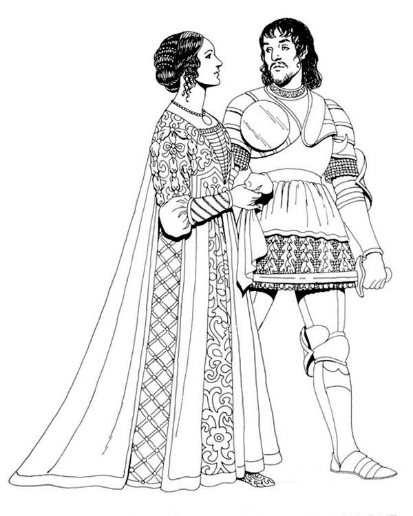 Renaissance Musician Coloring Pages