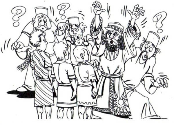 King Nebuchadnezzar, : Saved from Furnace King Nebuchadnezzar Coloring Pages