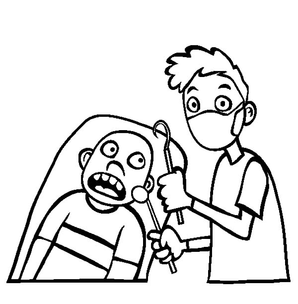 Health, : Show Your Teeth to Check Health Coloring Pages