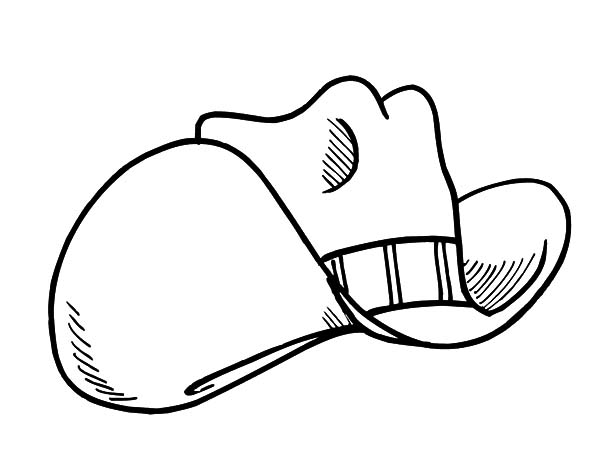 Hat, : Sketch of Cowboy Hat Coloring Pages