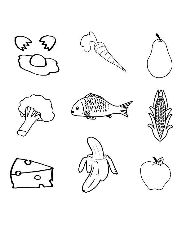 Healthy Eating, : f-V coloring sheet.pub