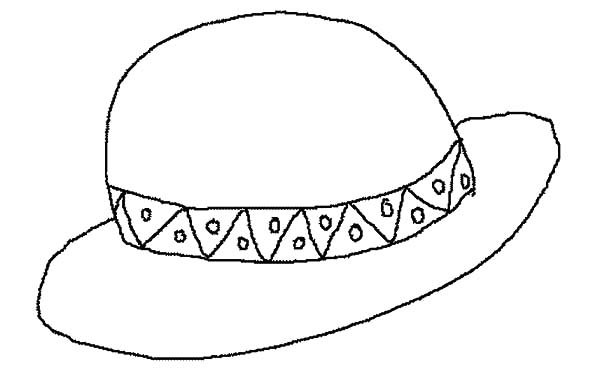 Hat, : Summer Heat Hat Coloring Pages