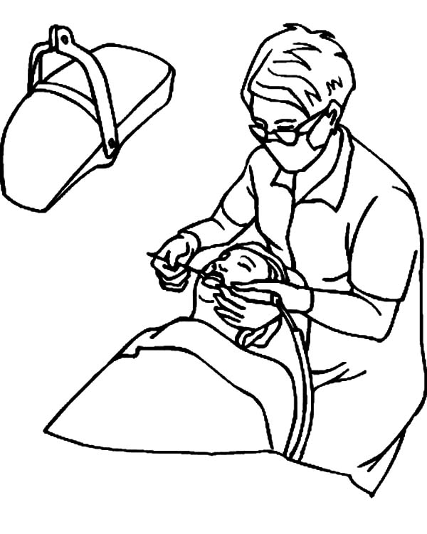 Health, : Teeth Health Care Coloring Pages