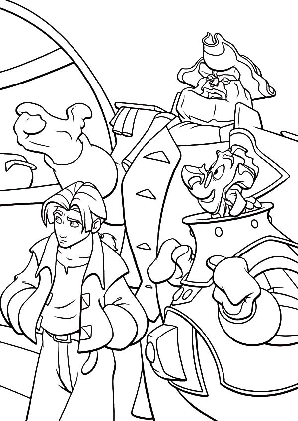 Treasure Planet, : The Adventure of Treasure Planet Coloring Pages