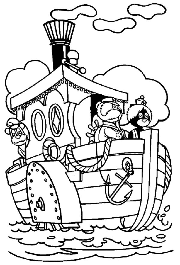 The Bearboat, : The Bearboat Famous Boat Coloring Pages