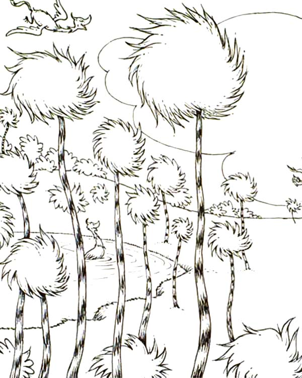 The Lorax, : The Lorax Truffula Tree Forest Coloring Pages