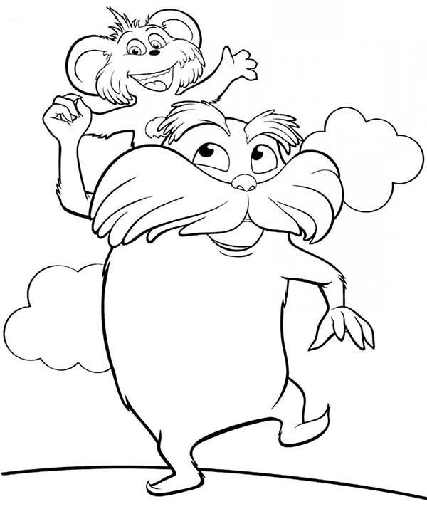 Lorax Bears Coloring Pages Coloring