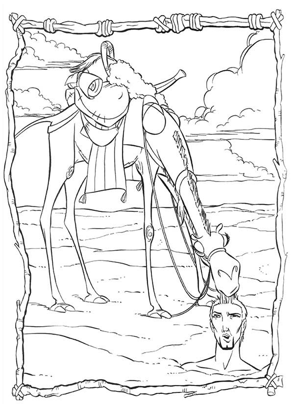 Prince Of Egypt, : The Prince of Egypt Buried in the Earth Coloring Pages