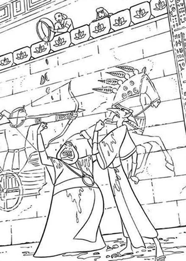 Prince Of Egypt, : The Prince of Egypt and Ramses Coloring Pages