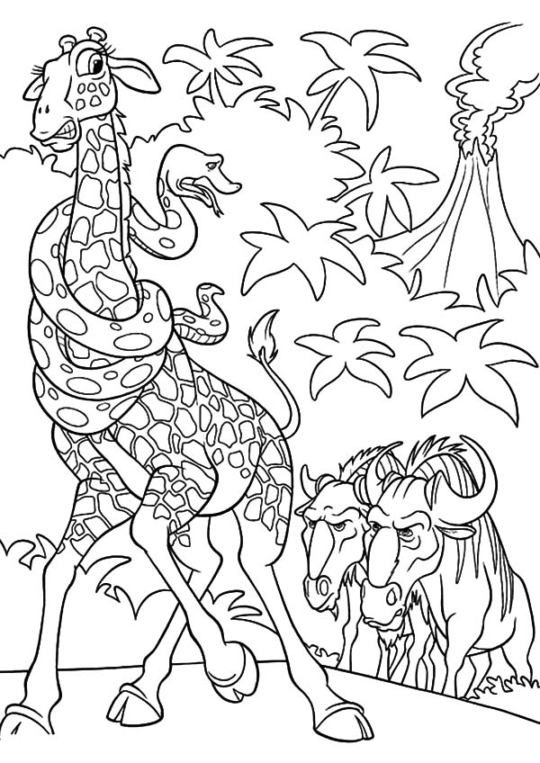The Wild, : The Wild Bridget and Larry Feeling Scared Coloring Pages
