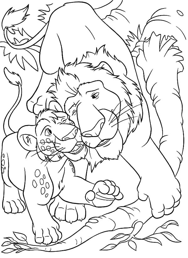 The Wild, : The Wild Father and Son Coloring Pages