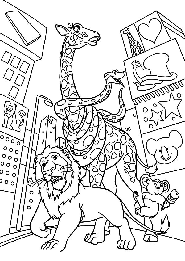 The Wild, : The Wild Lost in the City Coloring Pages