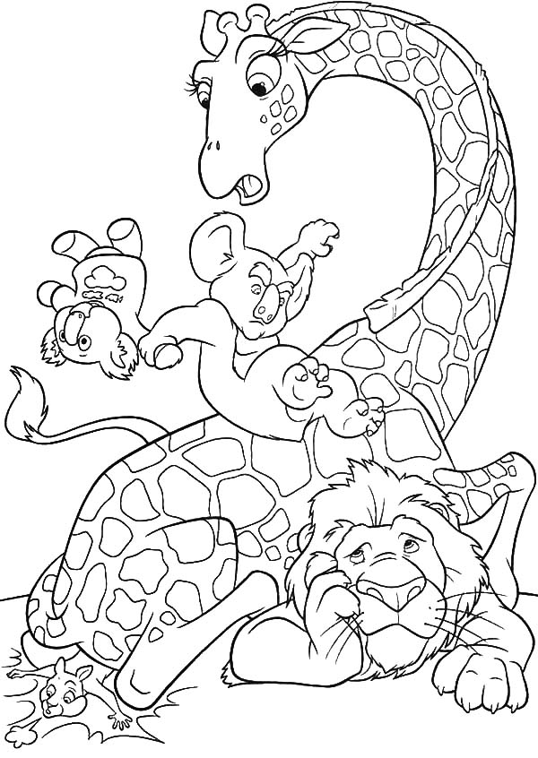 The Wild, : The Wild Nigel Play Slide on Bridget Neck Coloring Pages