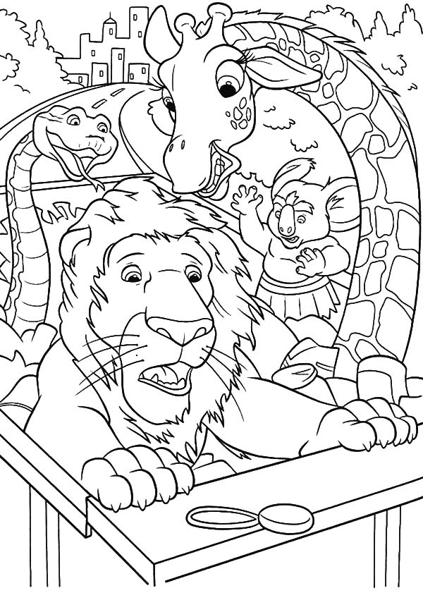 The Wild, : The Wild Riding Truck on Highway Coloring Pages