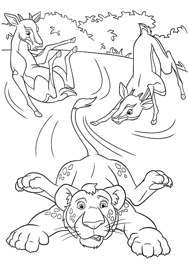 The Wild, : The Wild Ryan Sliding on Ice Coloring Pages